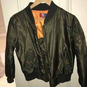 Other - dark green khaki girls bomber jacket